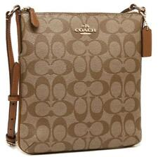 COACH Signature Canvas North South N/S Crossbody Bag Purse F58309 IMBDX