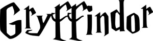 Harry Potter Gryffindor Logo Decal Name Text Vinyl Wall Art Sticker 150mm Black