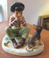 Vintage Stylized Bee Goebel Norman Rockwell Troubled Mime Boy & His Faithful Dog