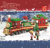 Bausteine Weihnachtszug Geschenk Weihnachtsbaum Kinder Spielzeug Modell Figuren