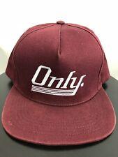 "bd3c0cafa03 ONLY NY ""New York"" Script Logo SnapBack Baseball Cap Hat Made in USA"