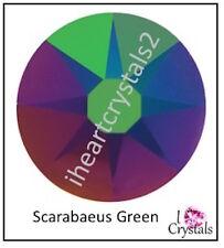 Scarabaeus Green 20ss 5mm 144 pieces Swarovski Crystal Flatback Rhinestones 2088