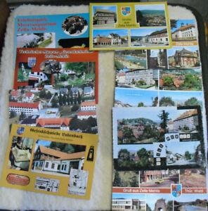9 Postkarten Zella-Mehlis Thüringen z. T. DDR