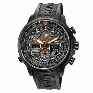 Citizen Eco Drive Promaster NaviHawk A-T Chrono Black Dial Mens Watch JY8035-04E