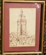 Washington Park Newark New Jersey Ink Drawing-1958-Rodolfo Marma