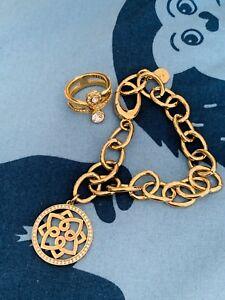 ❤️ Jette Joop Set , Gold , Steine , Ring und Armband