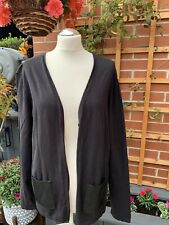Captain Tortue Designer (Miss Captain) Black Cardigan Blue Pleat T4 (Size 18/20)