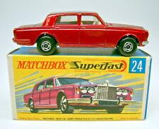 Matchbox Superfast No.24A Rolls Royce metallic red rare metallic green base