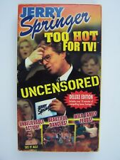 Jerry Springer: Too Hot for TV VHS Video Tape