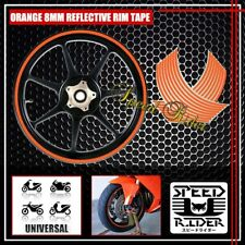 ORANGE REFLECTIVE RIM TAPE WHEEL STRIPE TRIM CAR BIKE BICYCLE DECAL 16 17 18 19