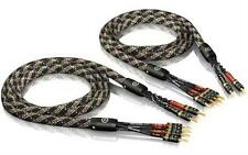 2 x 5,0m ViaBlue SC-4 bi-wire Lautsprecherkabel mit T6s tube Bananensteckern NEU