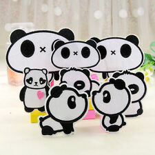 6pcs/lot Panda Bear Patch Iron on Sew Patch Applique Badge Embroidered Baby Cute