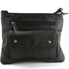 Para Mujer Original Bolso De Cuero Cross Body Bag Bolso Organizador Mini Bolso
