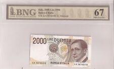 2000 lire Guglielmo Marconi DM 24.10.1990 firme Ciampi / Speziali FDS/UNC 67 BNG