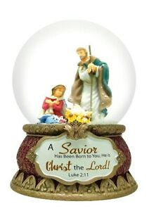 Nativity Musical Snowglobe Table Decor