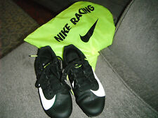 girls Nike running cleats youth size 4 with carry bag