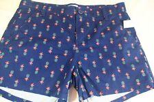 "OLD NAVY Girls 12 Plus BLUE COTTON SHORTS Pineapple Print 3.5"" inseam"