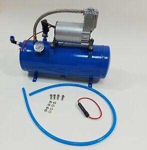 Compressore d'aria 6 Lt 150Psi + Kit Accessori Portatile Gonfiaggio