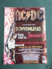 AC/DC - MAGAZINE CLIPPING / CUTTING- 1 PAGE ADVERT