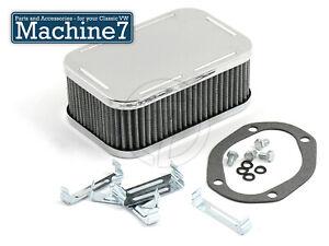 Air Filter for Weber 32/36 Progressive Carburettor Rectangular 64mm High Chrome