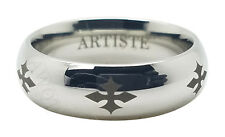 Artiste by Scott Kay Religious Band SZ 10 Brute Cobalt BioBlu 27 7mm Ring