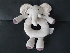 doudou hochet éléphant gris violet Aimé et Céleste MOULIN ROTY