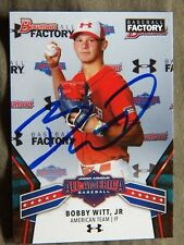 Bobby Witt Jr. 2018 Bowman Baseball Factory Under Armour All-American Auto Card