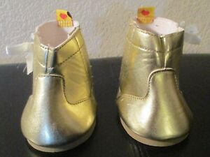 Build A Bear Workshop Gold Side Lace Boots