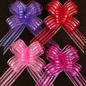 WR_ 10pcs 50mm Organza Ribbon Pull Bows Wedding Party Car Decor DIY Gift Wrap SM