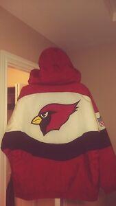 Apex Phoenix Cardinals Throwback Parka Starter Jacket Large New! Arizona