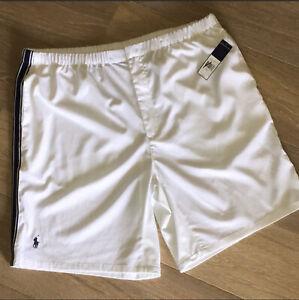 💜NWT Polo by Ralph Lauren Men's White Shorts with Zipper XXL