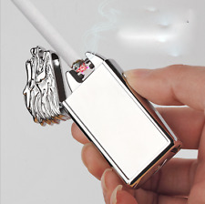 Rechargeable USB Electric Dual Arc Plasma Flameless Lighter Gifts Dragon Leading