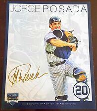 New York Yankees, JORGE POSADA #20 JERSEY RETIREMENT Day giveaway, Steiner, MLB
