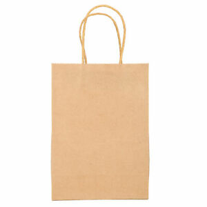 50 Pcs Recyclable Kraft Paper Bag Party Shopping Bags Jewelry Gift Kraft Bag Set
