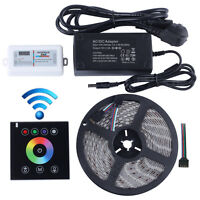 2.4G Wireless wall switch touch controller 12V RGB led strip 5M 300led Light Set