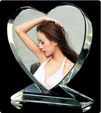 Personalized Custom Crystal Glass Heart Photo Acrylic Frame updated Wedding Gift