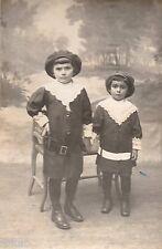BL668 Carte Photo vintage card RPPC Enfant mode fashion déguisement garçons