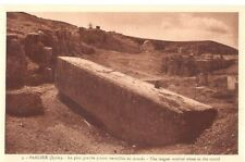 Lebanon Old Postcard Middle East The Largest Worked Stone In The World , Baalbek