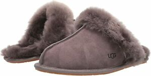 Women's Shoes UGG SCUFFETTE II Silkee Suede Slide Slippers 1106872 THUNDER CLOUD