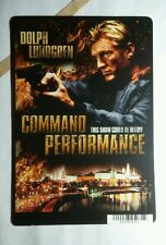 Command Performance Dolph Lundgren Mini Poster Backer Karte (Not A DVD Film )