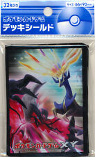 2x Japanese Pokemon XY Xerneas Yveltal sleeves 32ct NEW = 64 TOTAL SLEEVES!!