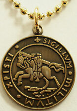 Templar Knights Traditional Seal Crusader Masonic Pendant Charm Necklace w/chain