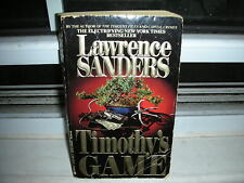 Timothy's Game by Lawrence Sanders (1994, Paperback, Reissue)