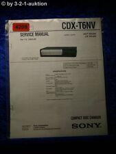 Sony Service Manual CDX T6NV CD Changer (#4208)