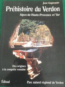 prehistoire du verdon francia parco naturale in francese, di Jean Gagnepain