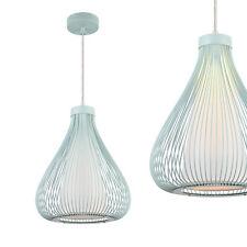 [lux.pro]® Lampe à suspension métal bleu Plafonnier lumière Lampe treillis