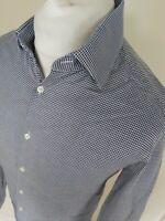 Mens Reiss Square Geometric Pattern Shirt Blue Medium 40 Chest Vgc