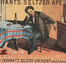 Poker Party Hangover Tarrants Seltzer Aperient Spittoon Advertising Trade Card