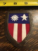 CBI China Burma India Theater Made AAF Leather Multi Piece Patch WWII - B