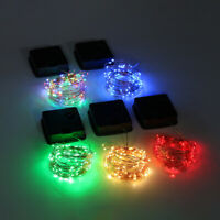 5M 50 Lights Outdoor Solar Powered Copper Wire Light String Fairy Party Decor